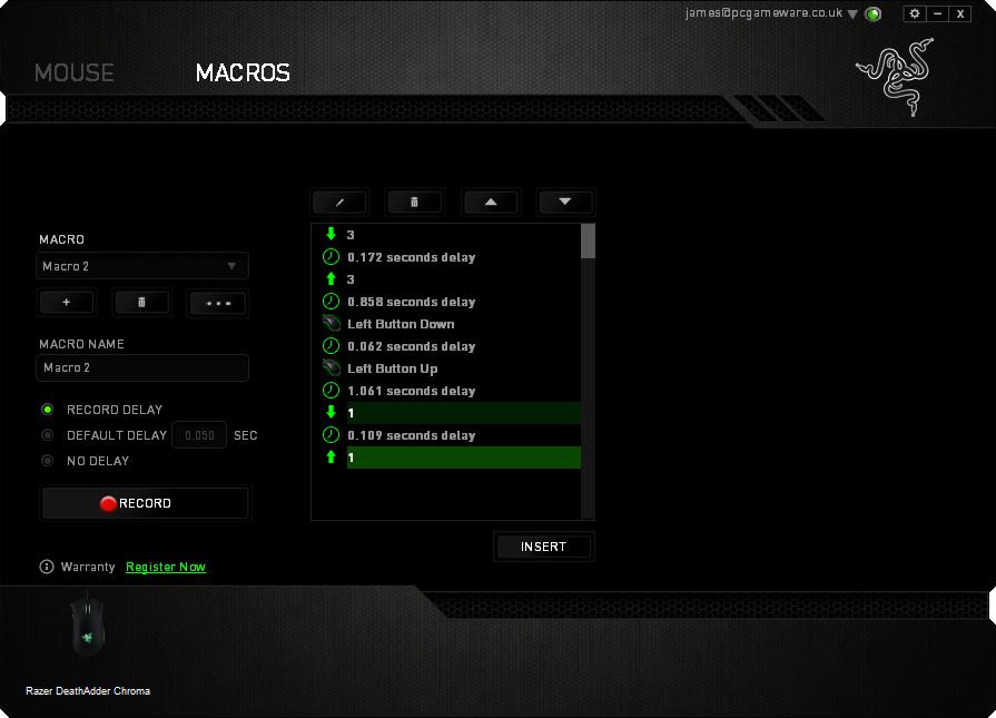 Razer DeathAdder Chroma MACROS