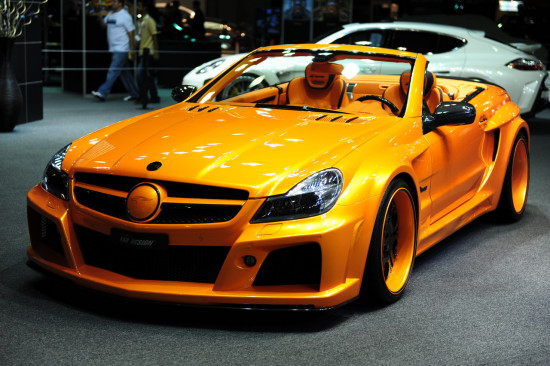 Golden Yellow Car