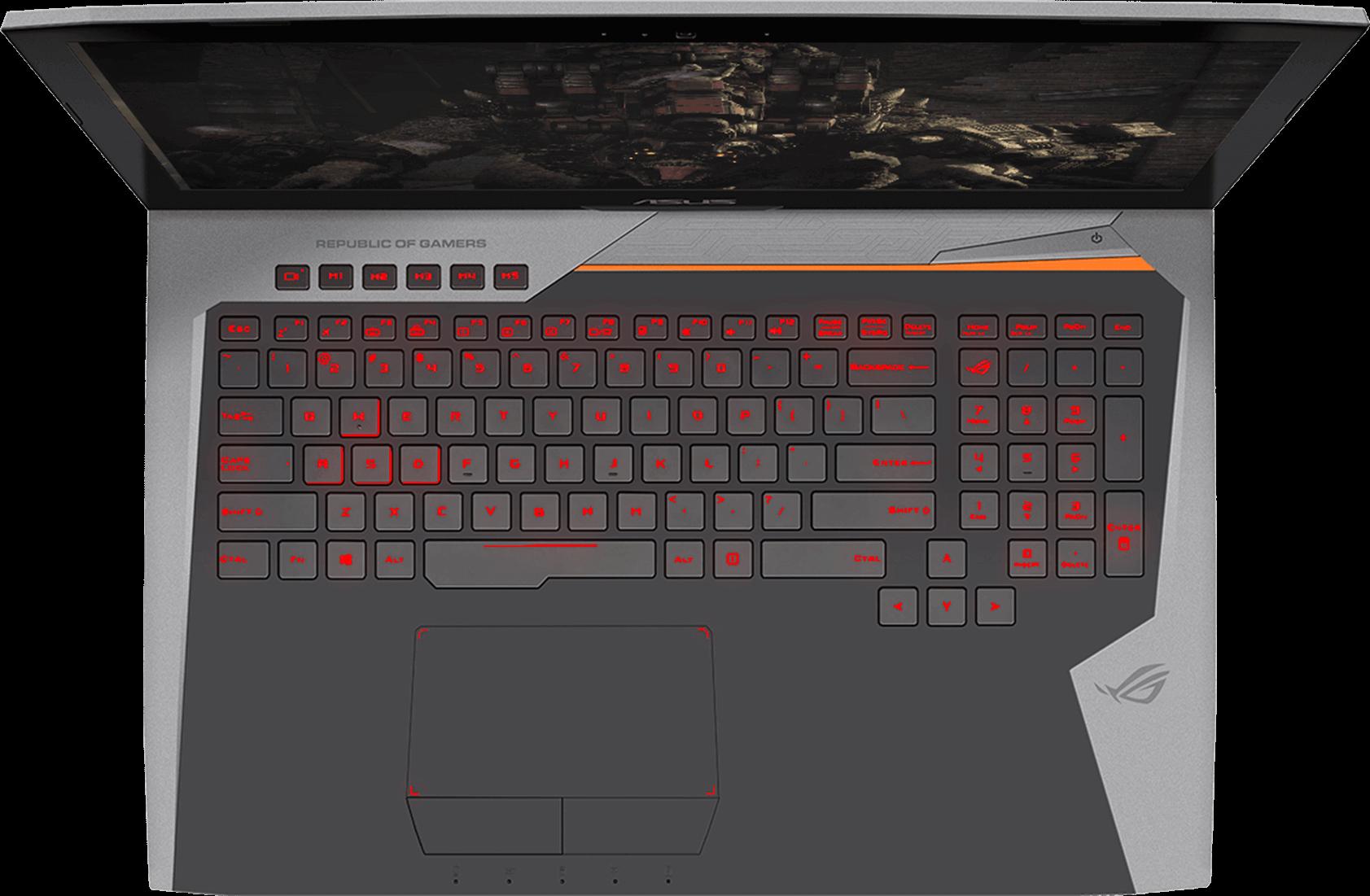 Keyboard and trackpad