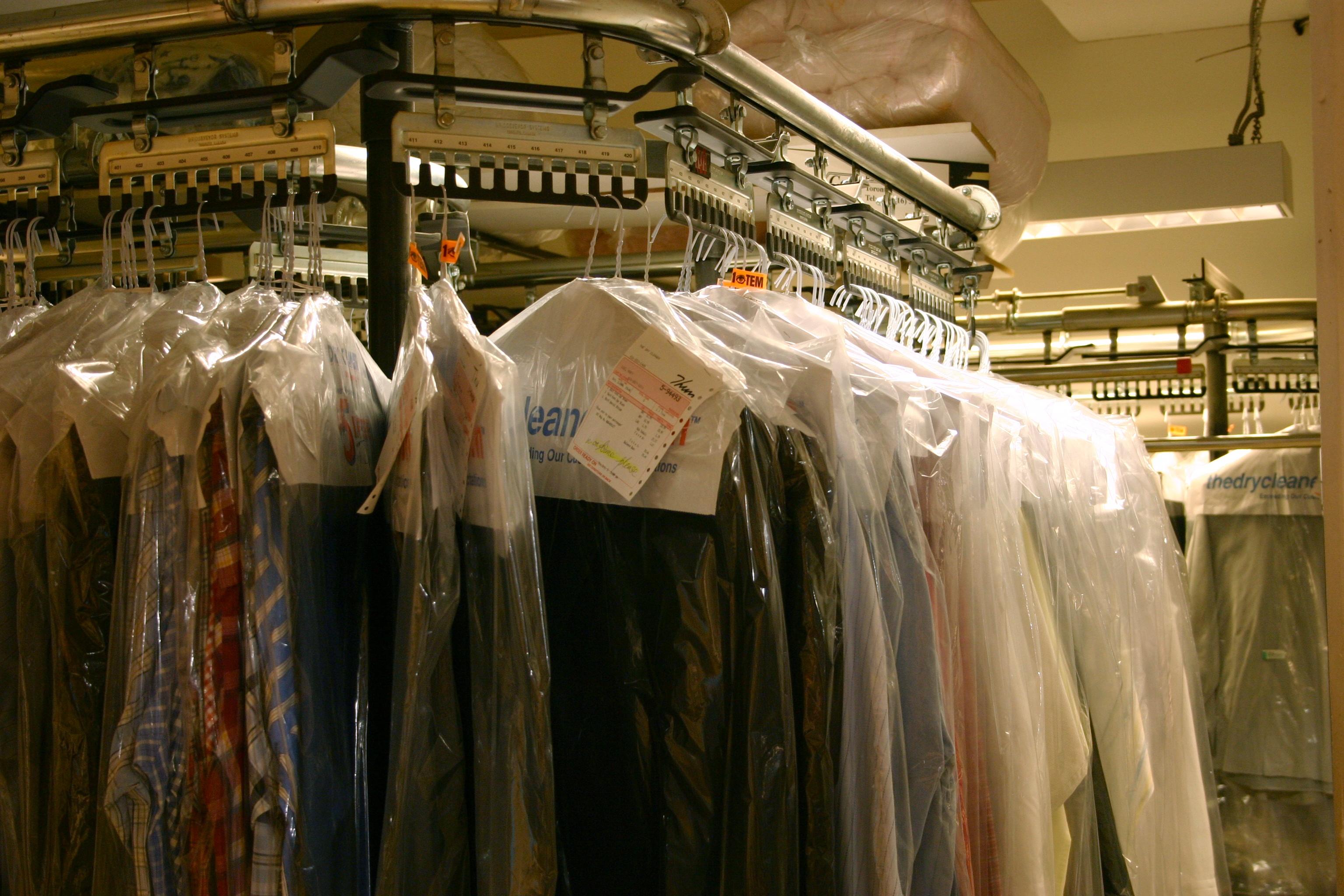 Cloth in plastic bags