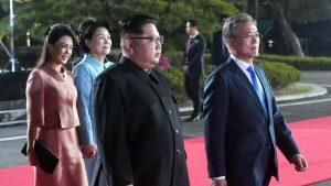The leaders of North Korea and South Korea