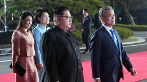 The leaders of North Korea and South Korea