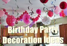 decorate a birthday party